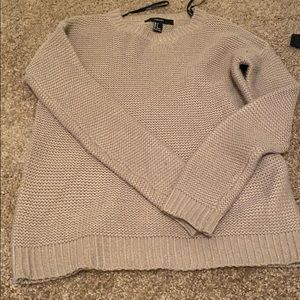 Brown loose knit sweater
